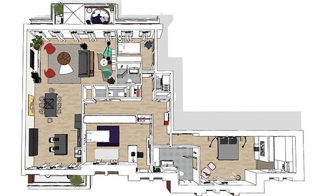 Cecilia Kollross beoordeelt het gehele interieur en verrast met praktische totaal-oplossingen.