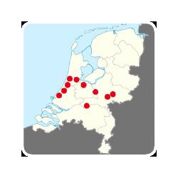 De spreiding van de leden van deCluster over Nederland ...