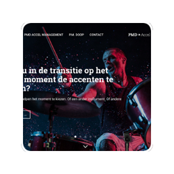 PMD Accel Management - identiteit, huisstijl, website