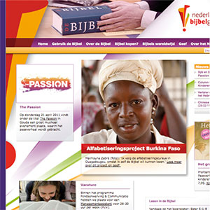 HSTotaal ontwerpt website voor het Nederlands Bijbelgenootschap