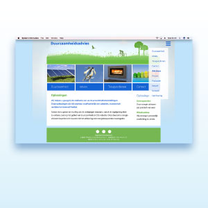 HSTotaal bouwt websites met mooie templates, bijvoorbeeld 'Green'