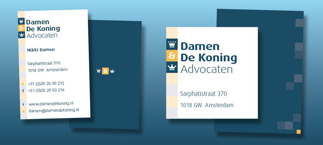 HSTotaal ontwerpt een huisstijl voor Damen & De Koning Advocaten