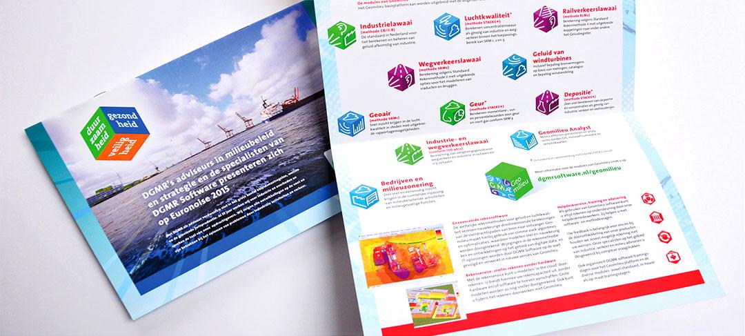 HSTotaal ontwerpt brochures voor DGMR Software