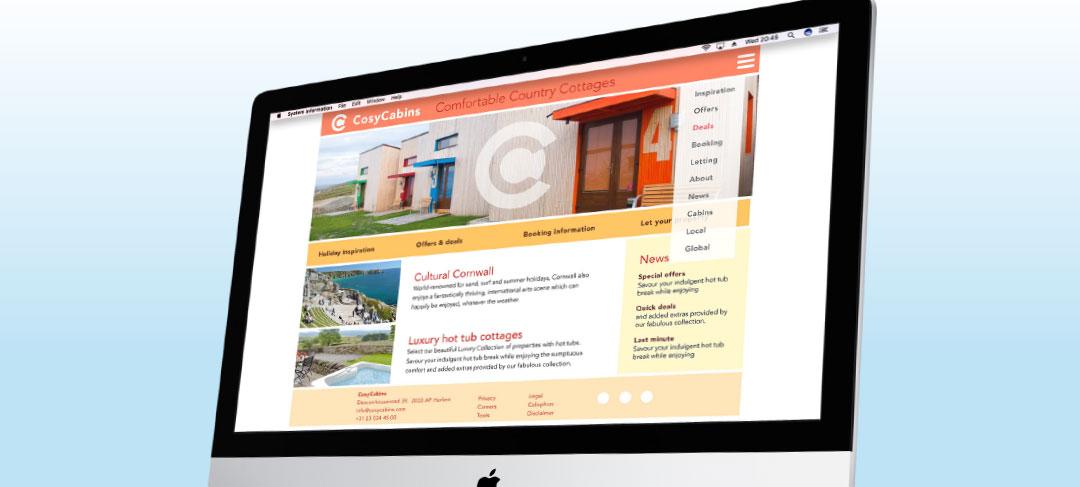 HSTotaal bouwt websites met mooie templates, bijvoorbeeld: Cosy
