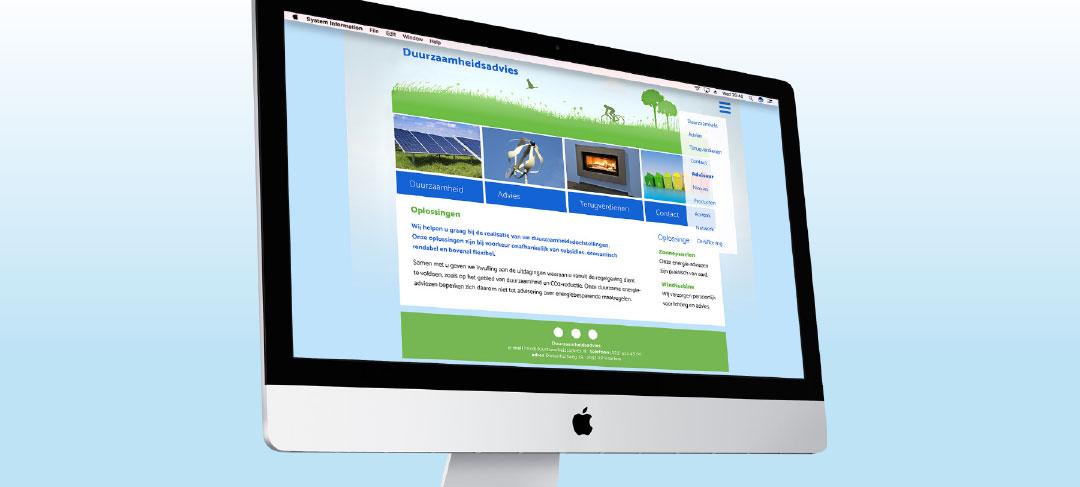HSTotaal bouwt websites met mooie templates, bijvoorbeeld: Green