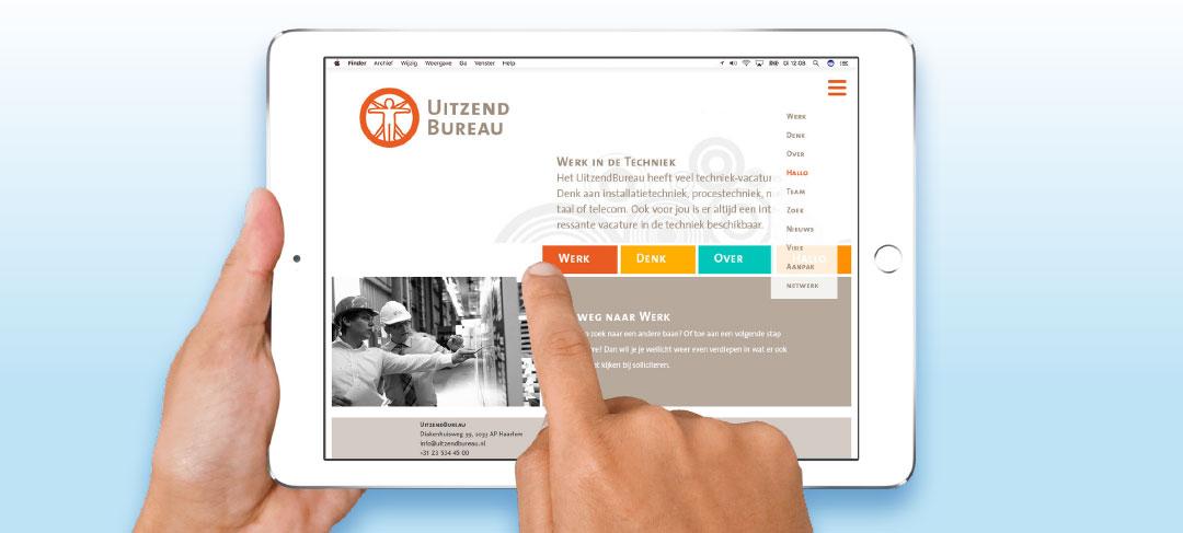HSTotaal bouwt websites met mooie templates, bijvoorbeeld: Job