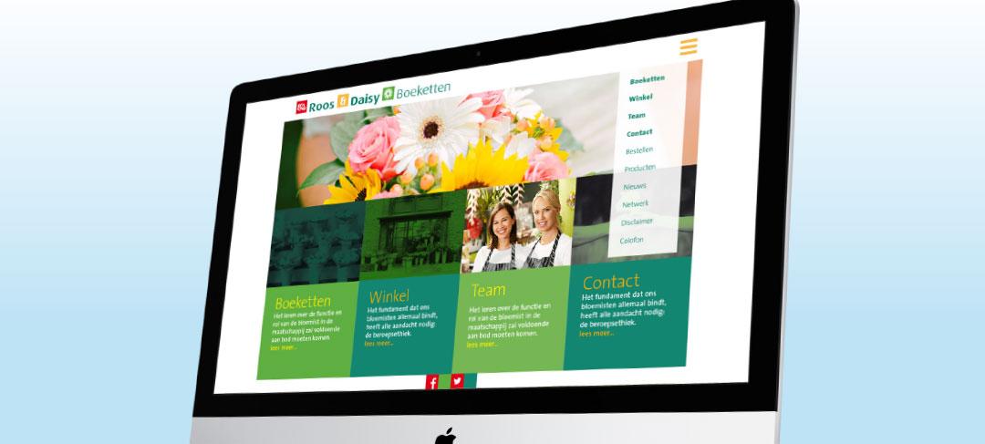 HSTotaal bouwt websites met mooie templates, bijvoorbeeld: Rose