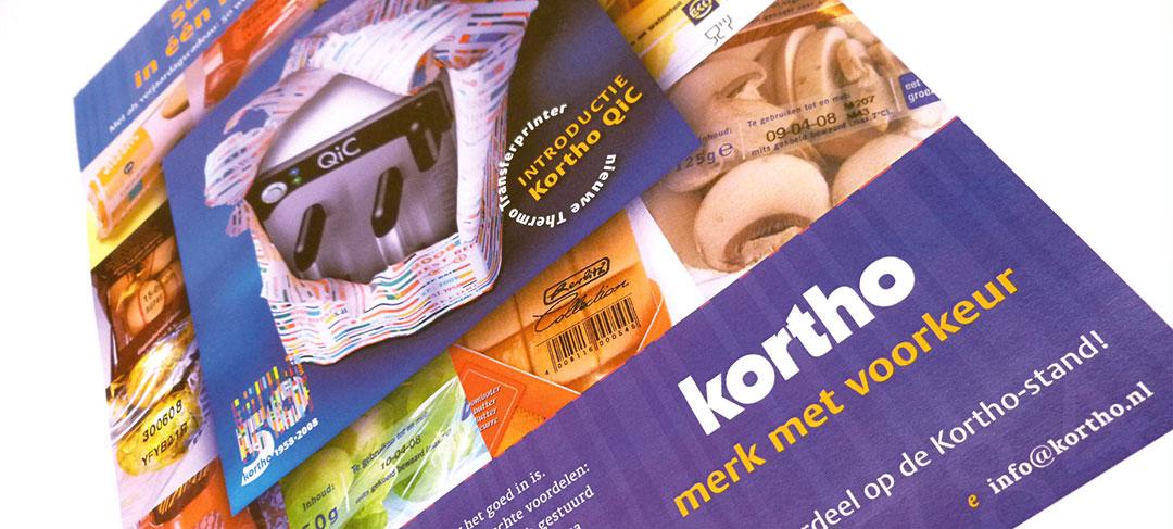 HSTotaal ontwerpt advertentieconcept voor Kortho Coding & Marking