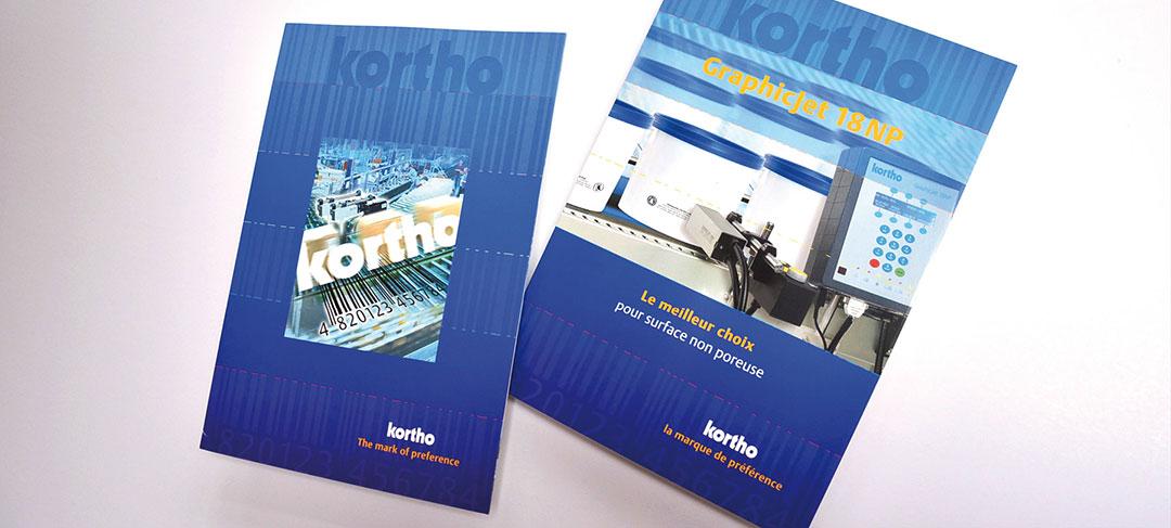 HSTotaal ontwerpt brochure-concept voor Kortho Coding & Marking