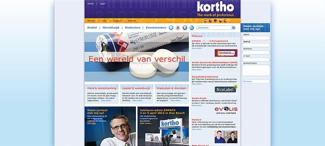 HSTotaal ontwikkelt de website voor Kortho Coding & Marking