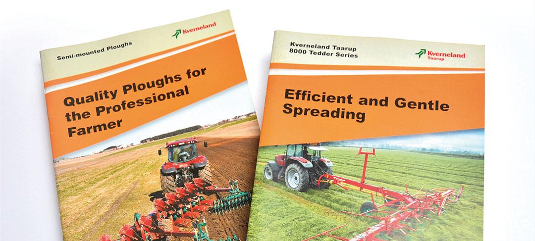 HSTotaal ontwerpt brochures voor Kverneland Landbouwmachines