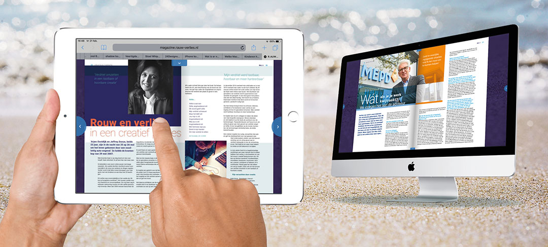 HSTotaal ontwerpt offline én online magazine voor R.AUW-verlies