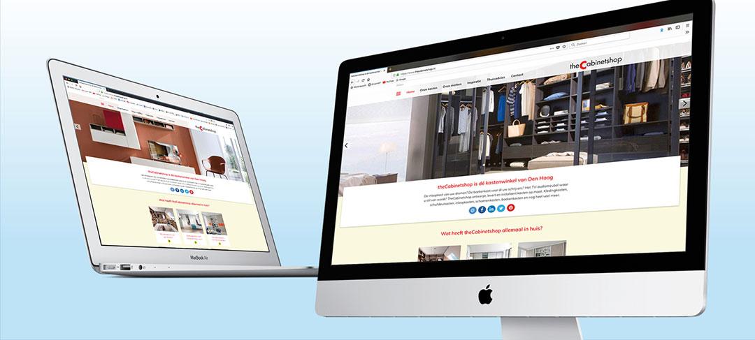 HSTotaal ontwerpt succesvolle website voor theCabinetshop Den Haag