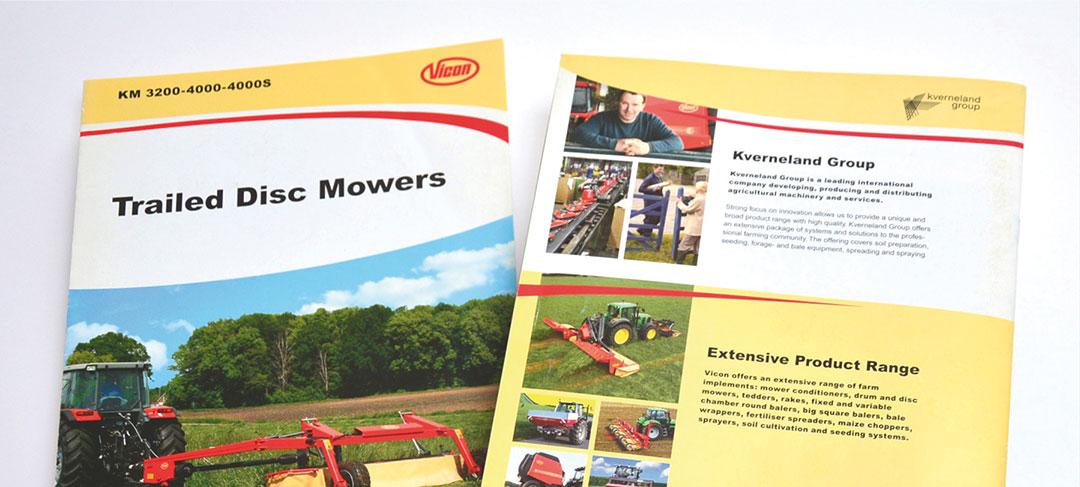 HSTotaal ontwerp brochures voor Vicon Landbouwmachines