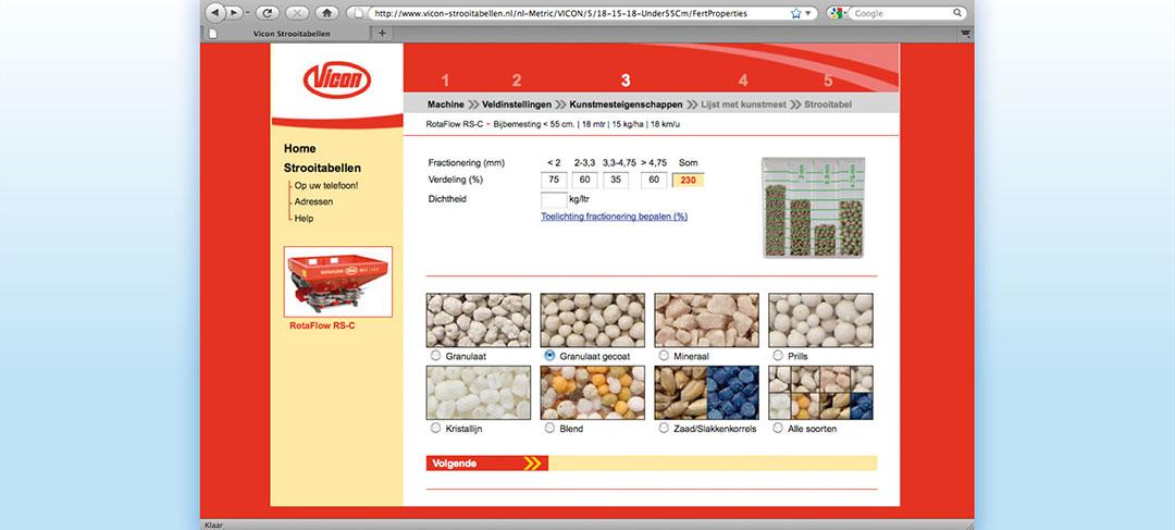 HSTotaal ontwikkelt speciale website voor Vicon Landbouwmachines