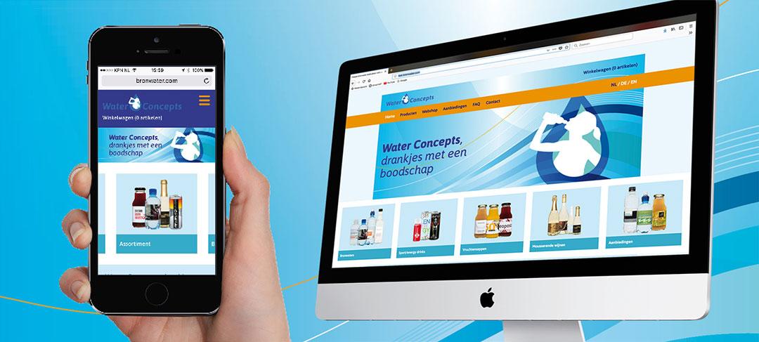 HSTotaal ontwerpt heldere website voor Water Concepts Benelux
