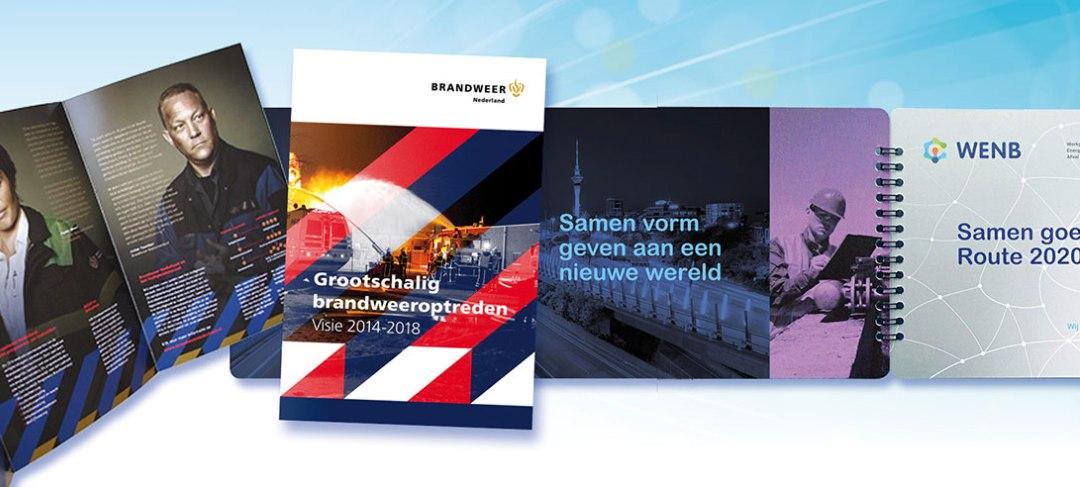 HSTotaal ontwerpt brochures, inclusief tekst, beeld en drukwerk